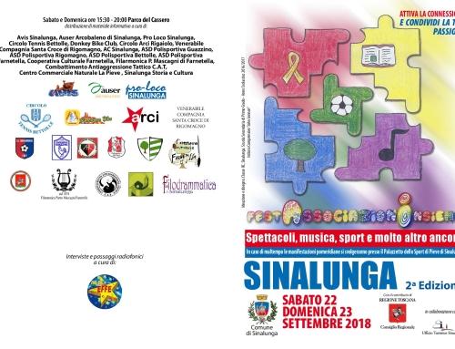 FESTA DELLE ASSOCIAZIONI – II Edizione –  SINALUNGA 22 E 23 SETTEMBRE 2018